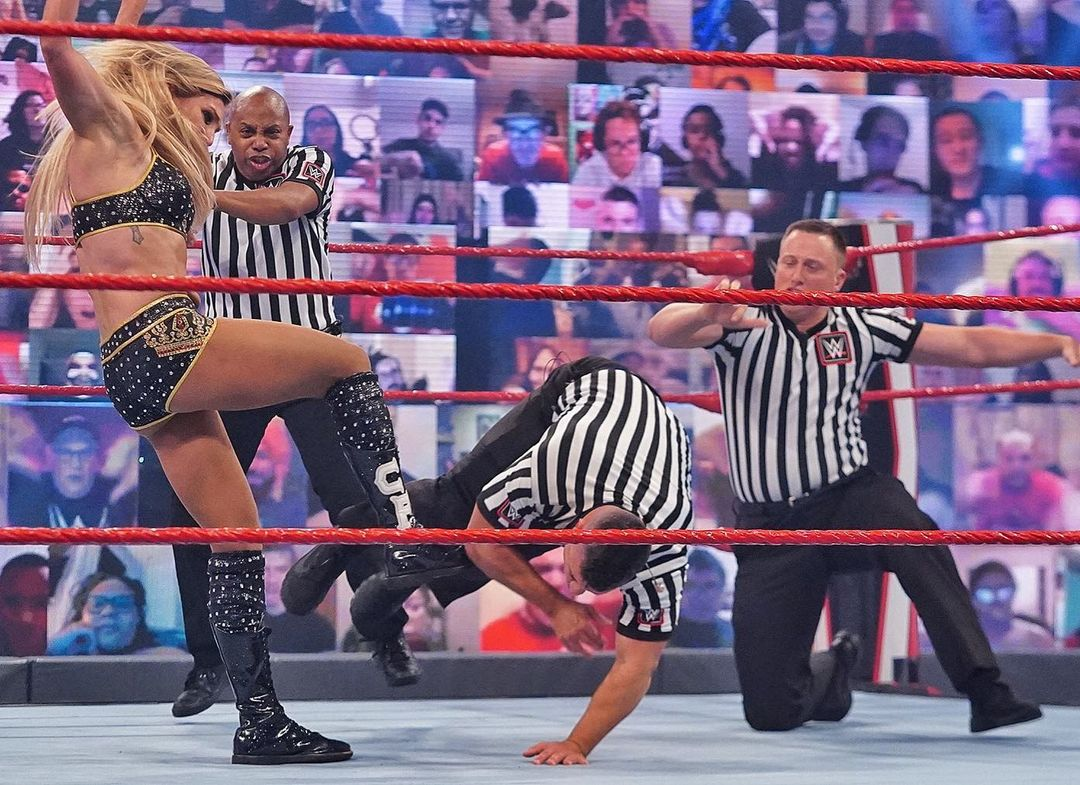 Charlotte Flair Suspended After Attacking Referee on RAW
