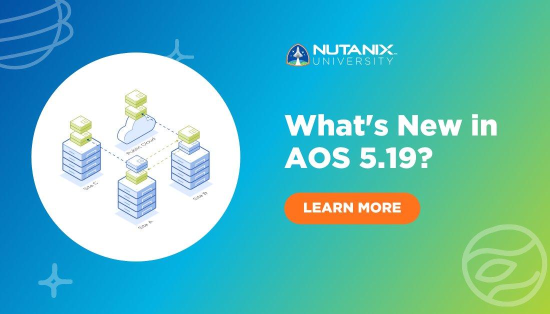 test Twitter Media - RT @NutanixEDU: What's New in AOS 5.19 is finally here! 🙌   #NutanixUniversity  https://t.co/YeGBM0E54l https://t.co/yiLhwdJFu4