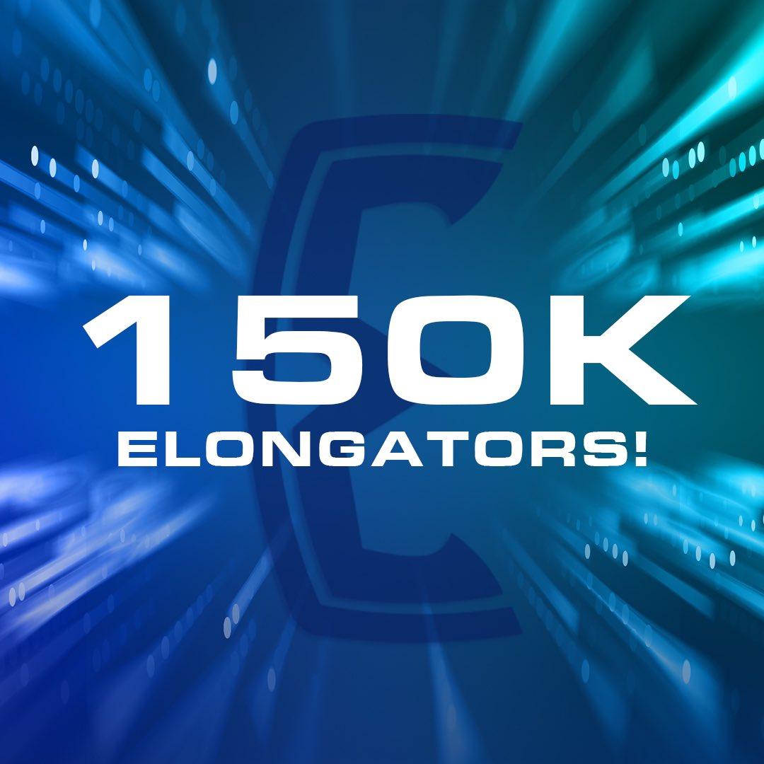 ELONGATE reaches 150K holders! ❤️ https://t.co/NVNAsYMubQ