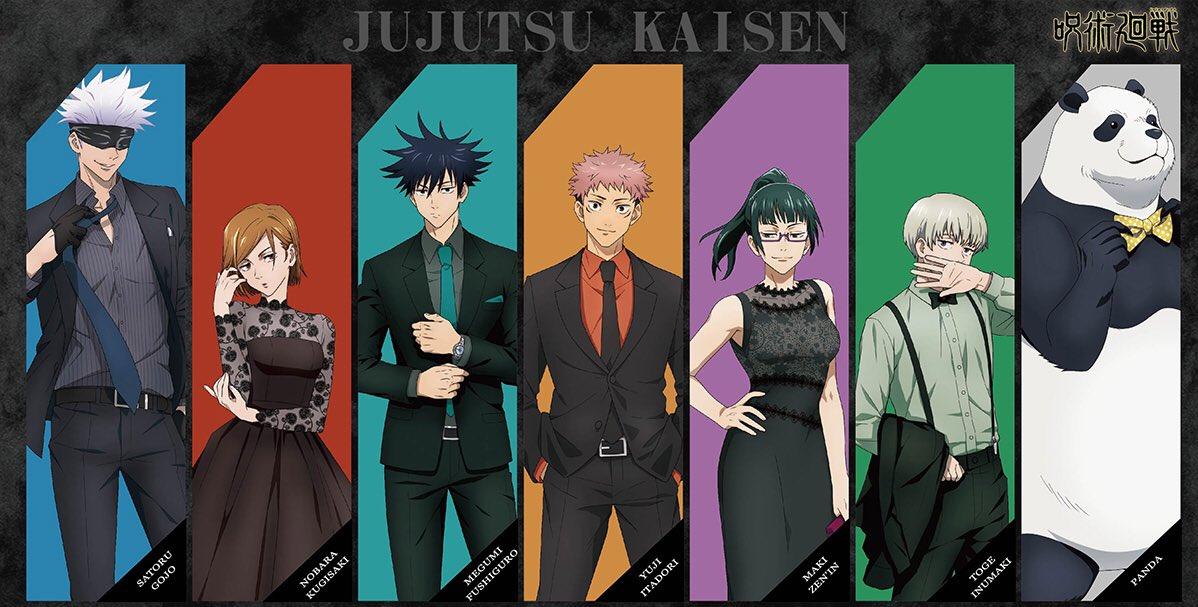 RT @JujutsuKaisen: New Jujutsu Kaisen 'Party Themed' Illustration https://t.co/jkXEyEZcQ2