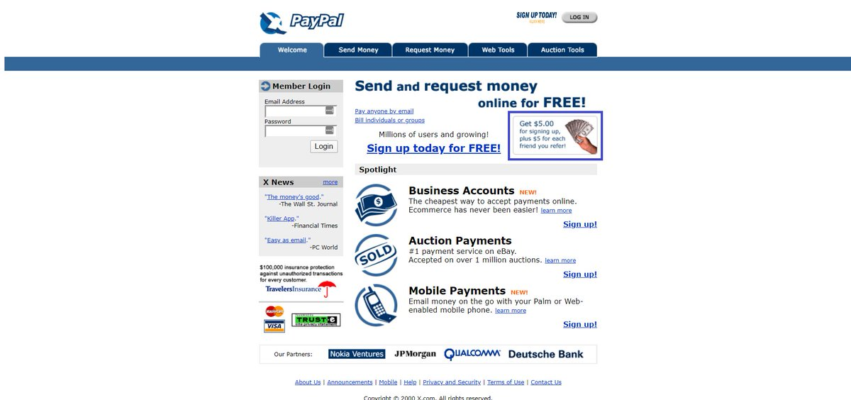 Paypal -  successful referral programs