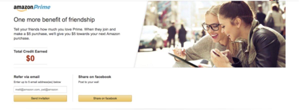 Amazon Prime -  successful referral programs