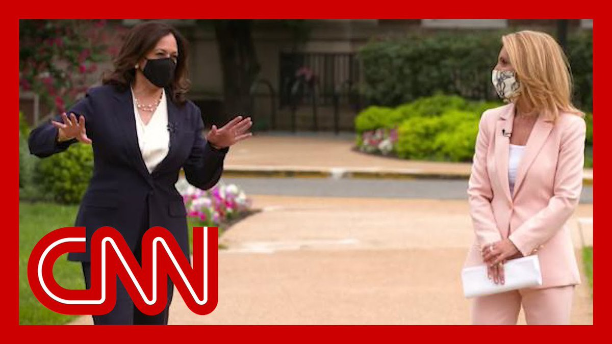 RT @flywithkamala: TUESDAY >> @VP Kamala Harris's exclusive interview with CNN's Dana Bash airs at 6PM ET!! https://t.co/J46qrZW8oK