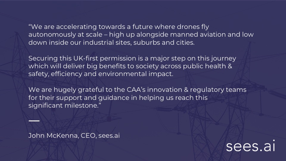 Congratulations to https://t.co/Qx1moQQgMa for securing authorisation from the @UK_CAA to trial a concept of routine #BVLOS operations. https://t.co/mX1UFSVl50 are one of the projects under the #DronePathfinderCatalystProgramme led by @CPCatapult on behalf of the @transportgovuk