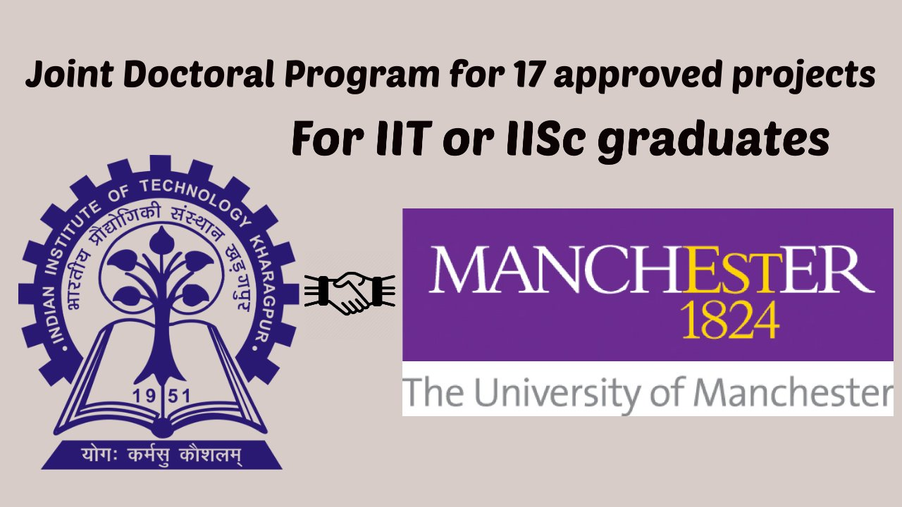 Joint Doctoral Program at IIT Kharagpur with University of Manchester, UK