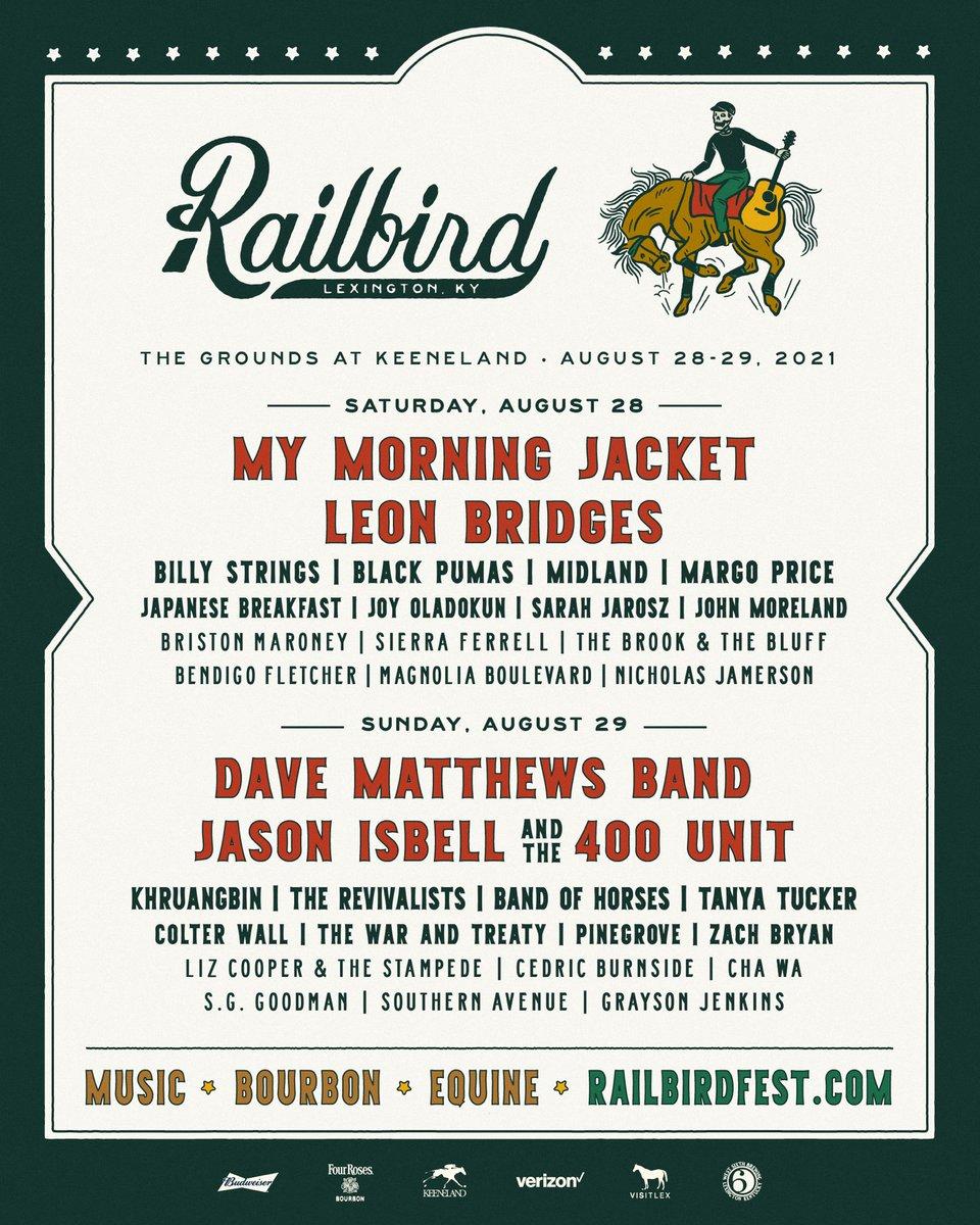 The Railbird Festival lineup for 2021!
