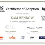 Image for the Tweet beginning: Well done to Sam Benbow,