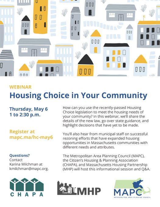 Housing Choice in Your Community - Webinar - May 6