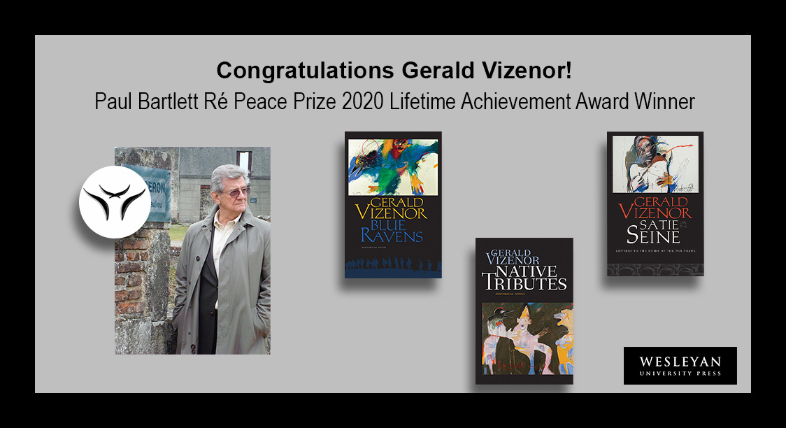 test Twitter Media - Congratulations to Gerald Vizenor! Recipient of the Paul Bartlett Ré Peace Prize 2020 Lifetime Achievement Award, for his work across genres promoting peaceful resolutions to cultural differences.   #GeraldVizenor #WhiteEarth #IndigenousVoices #Peace #CulturalKnowledge https://t.co/3Tv4Y8P04I