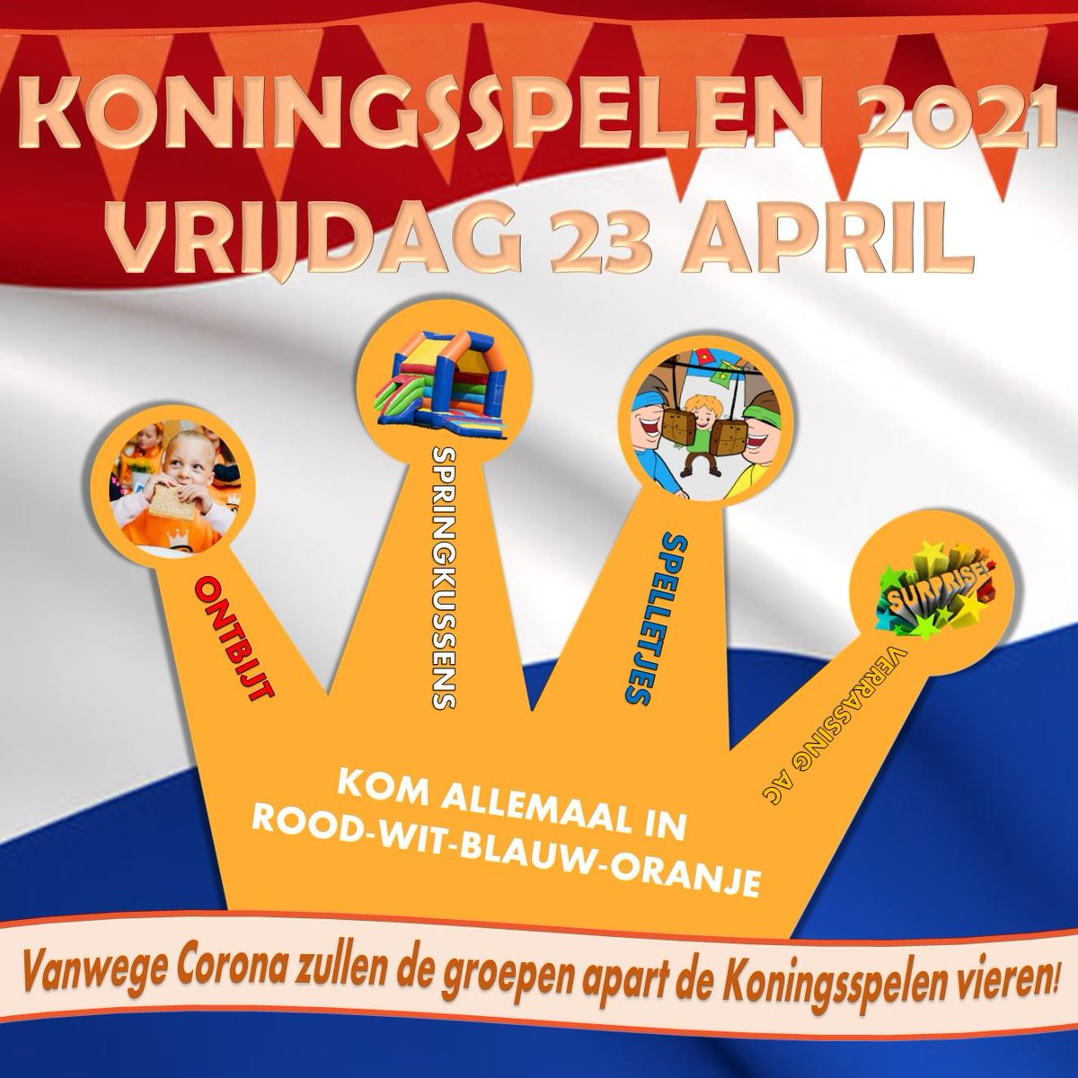 Image for the Tweet beginning: Vrijdag 23 april houden we