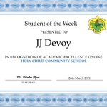 Image for the Tweet beginning: 🌟Student of the Week for