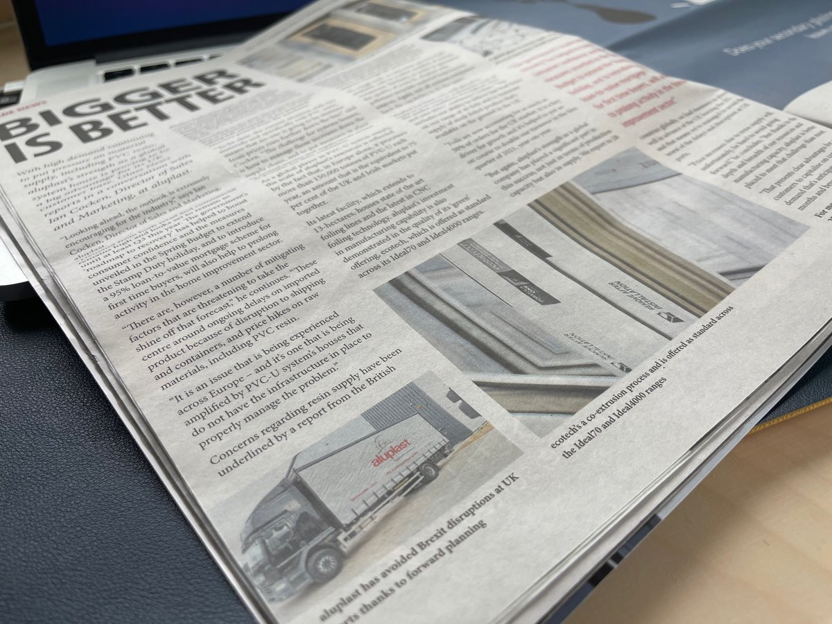 In this month's Glass News our Director of Sales & Marketing, Ian Cocken, explains how aluplast's strength as a global system house means it is better placed than most to meet the challenge of raw material supply #aluplast #glassnews https://t.co/pRM0PE3Amw https://t.co/9xWsiubl9X