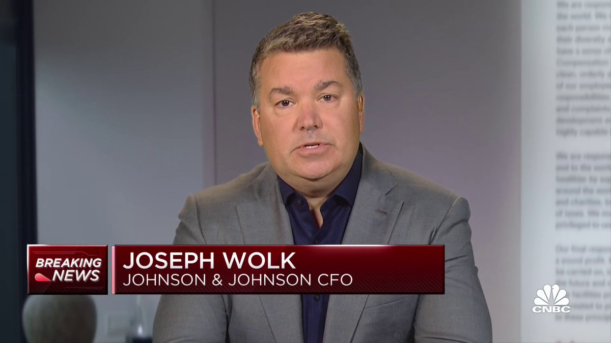 """J&J's CFO Joe Wolk tells us the company is hopeful its #covid19 vaccine will have a path forward this week. """"We do have strong conviction in the benefit-risk profile."""""""