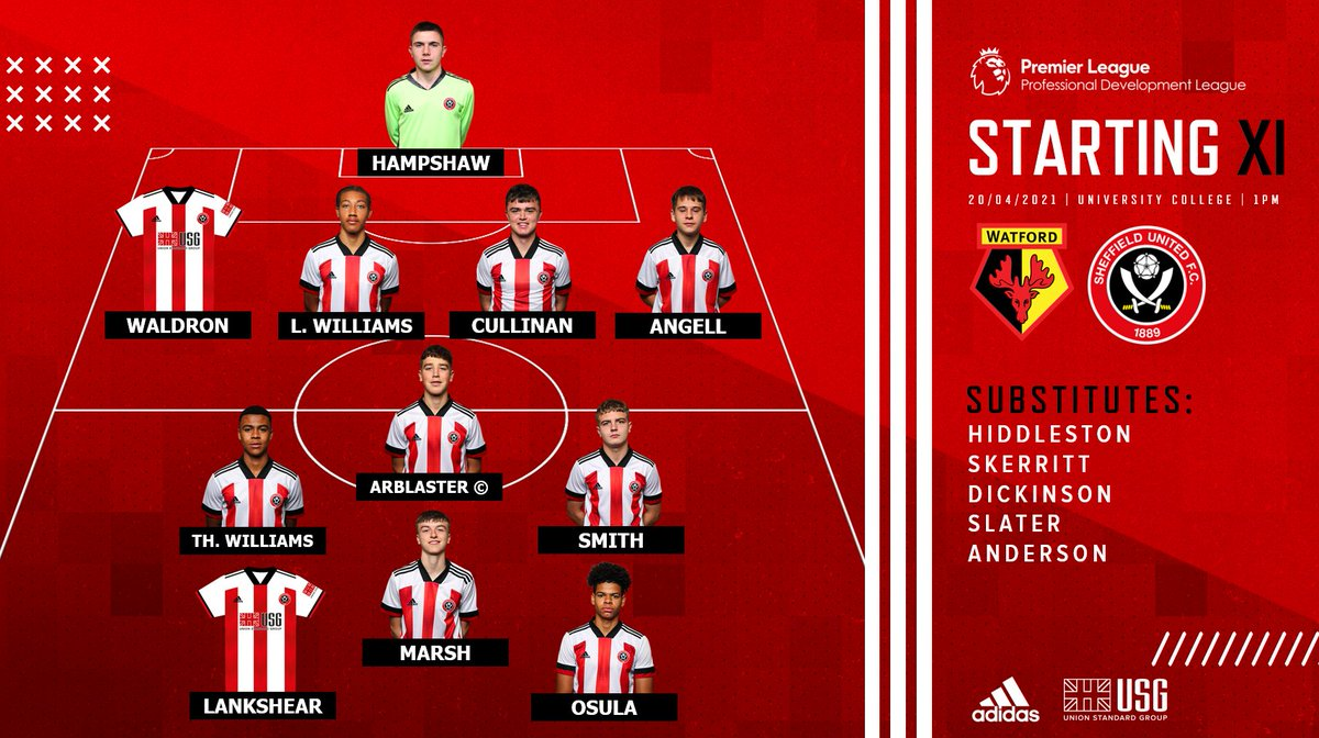 ⚔ TEAM NEWS ⚔  Here's how the Blades line up for this afternoon's match against Watford.  #SUFC 🔴 https://t.co/BADWeKH3Am