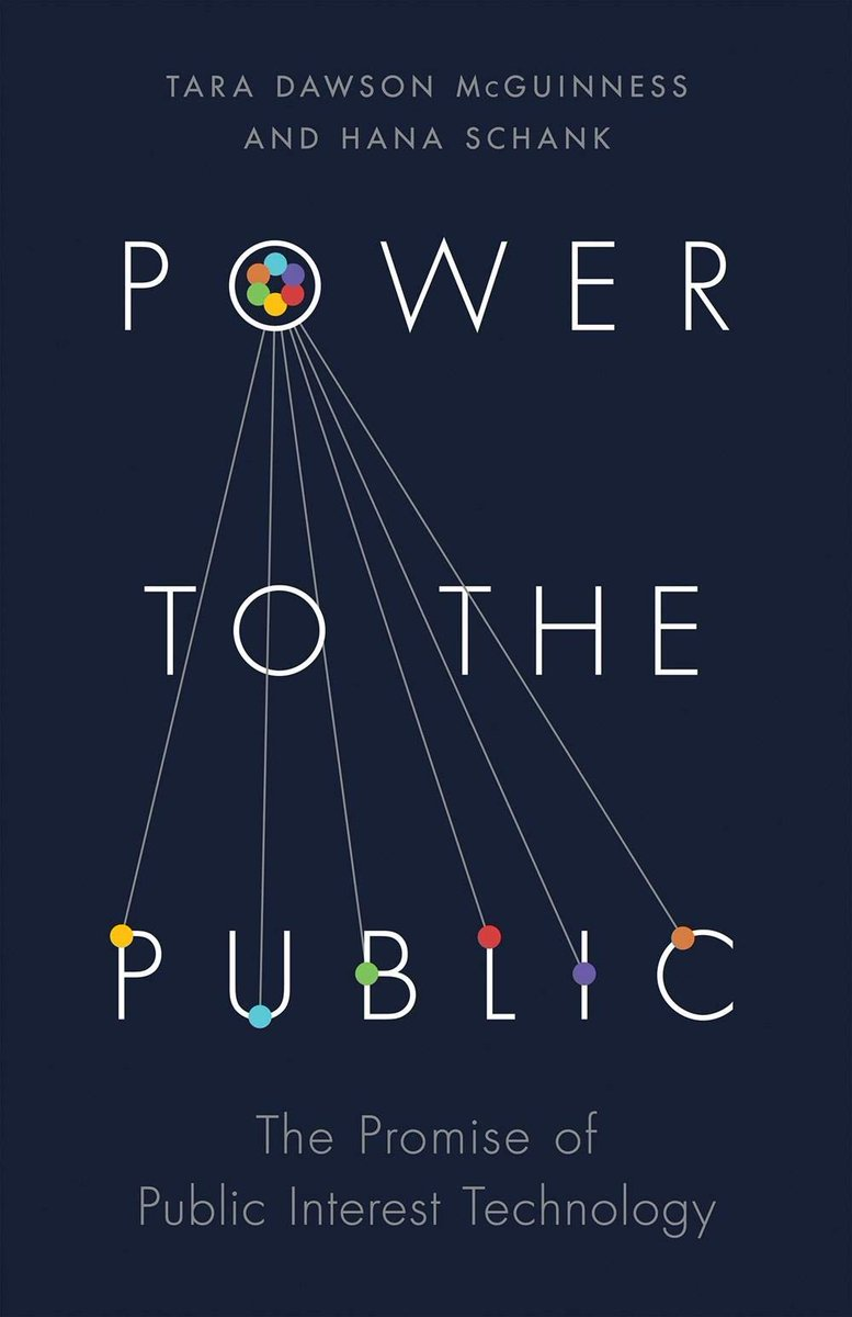 I want to share a new book, Power to the Public, that illustrates how nonprofits and governments can use technology to solve some of the most pressing issues of our time. It includes some good examples and is worth a read for anyone who cares about making change happen. https://t.co/1la9TGUMTV
