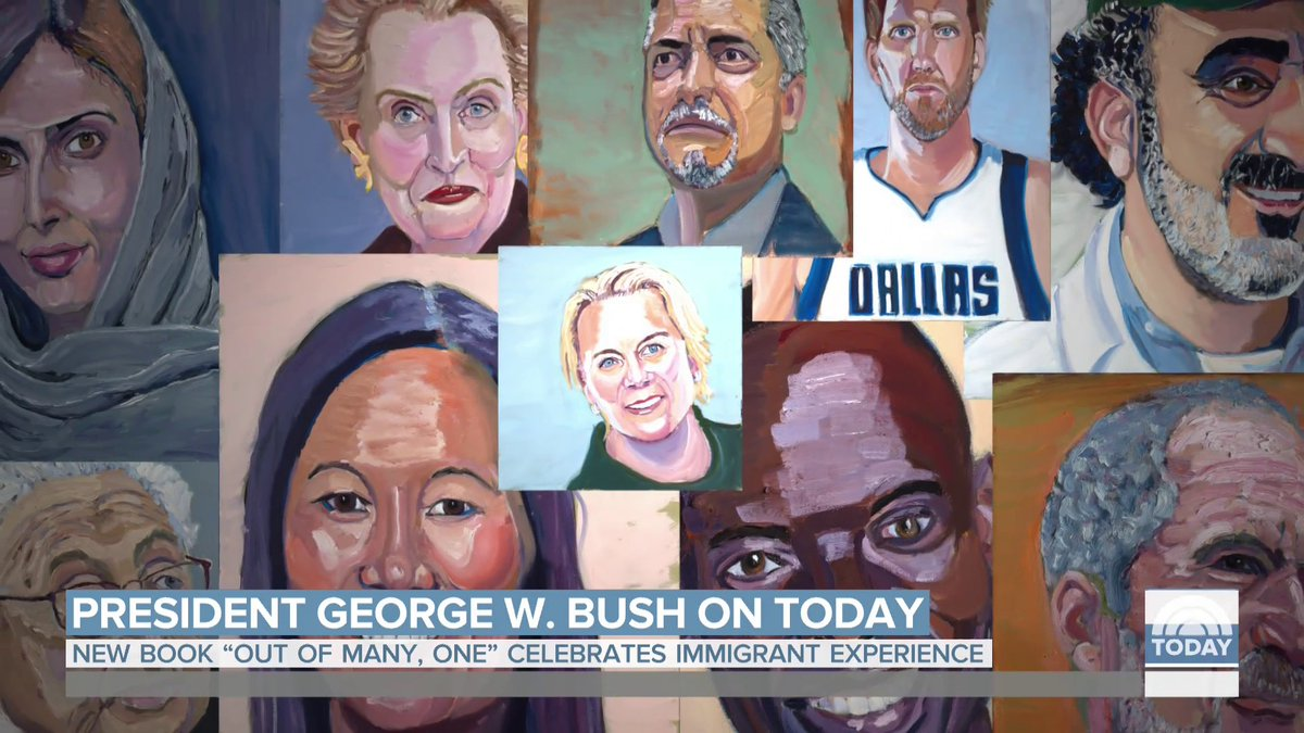 Image for the Tweet beginning: Former President George W. Bush's