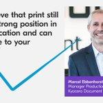 Image for the Tweet beginning: Marcel Ebbenhorst believes that print