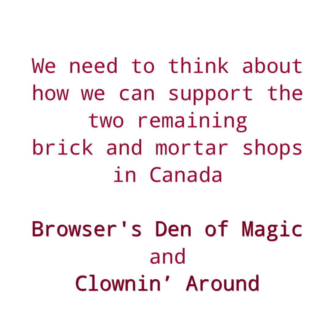 Support your brick and mortar magic shops!