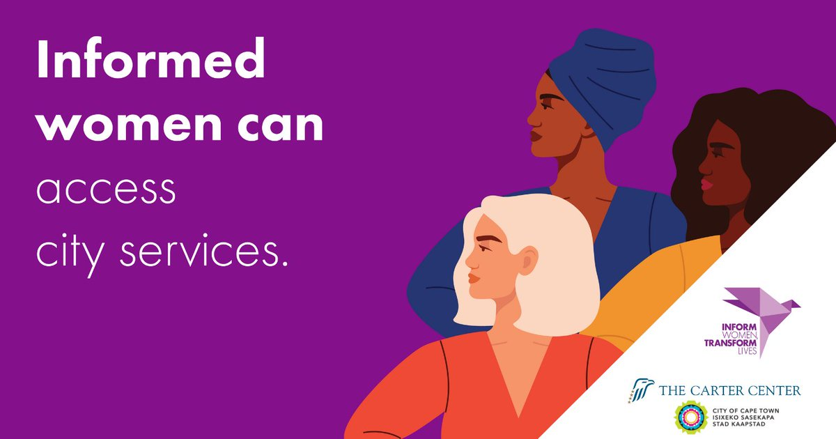 Cape Town is one of 13 cities empowering women in by providing them with access to information on local resources and training opportunities.  #info4women can transform lives.