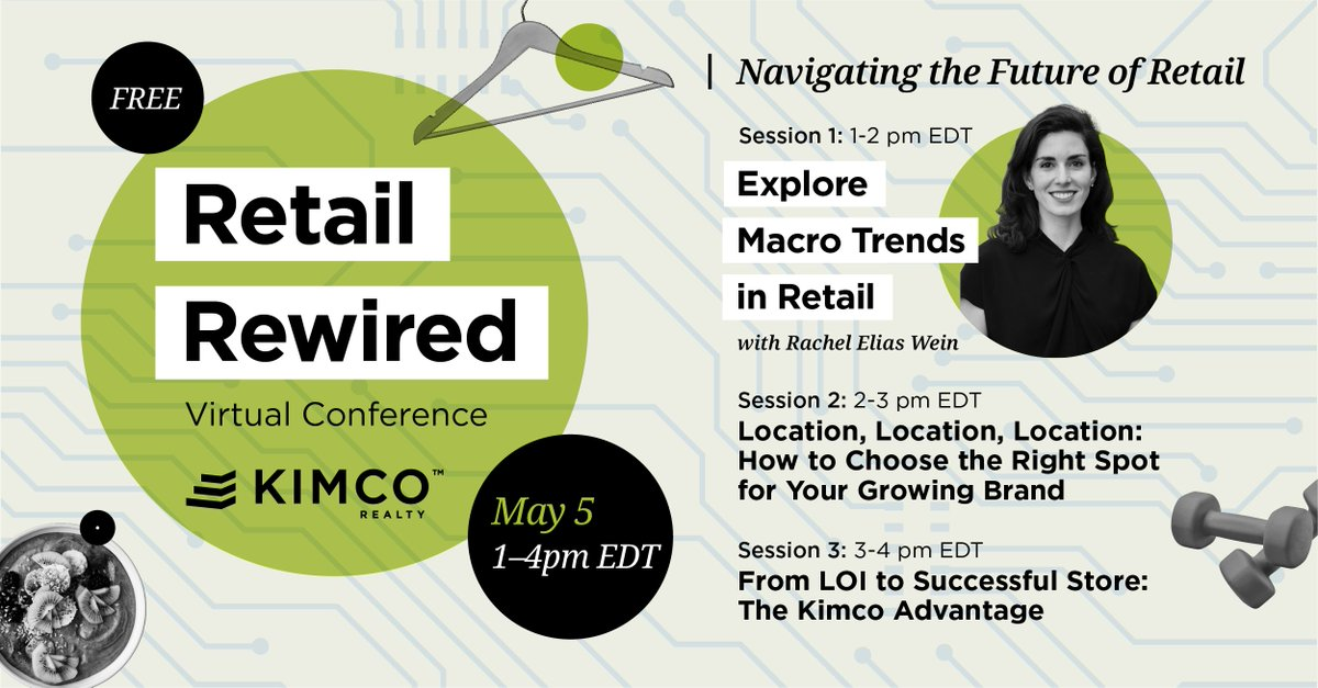 Join me and the @kimcorealty team as we look into the crystal ball of retail trends and help tenants find their perfect match in open-air retail centers