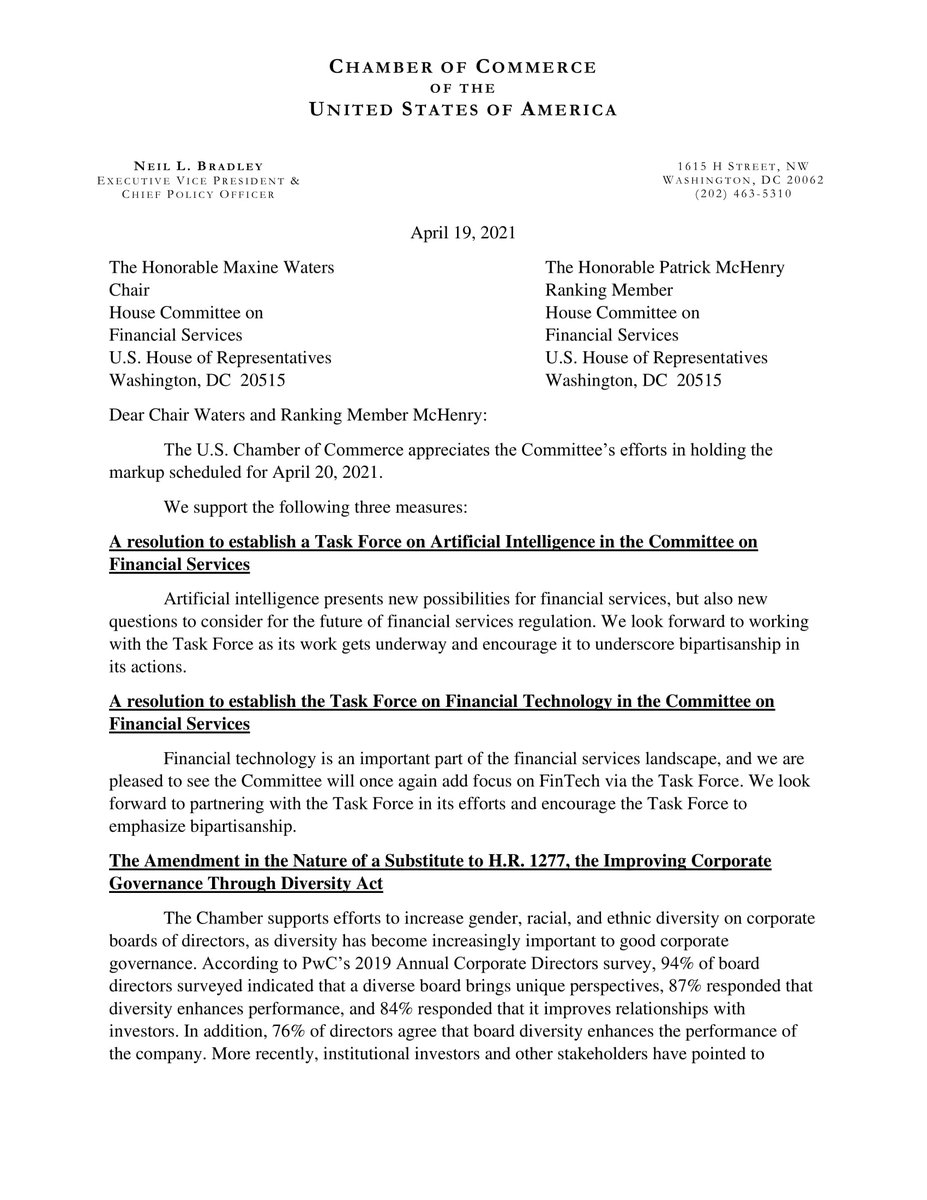 test Twitter Media - .@USChamber submitted comments to the @FSCDems @FinancialCmte in advance of the committee's markup today. https://t.co/XZ7CJLAPrQ https://t.co/ITgNh9mvhK