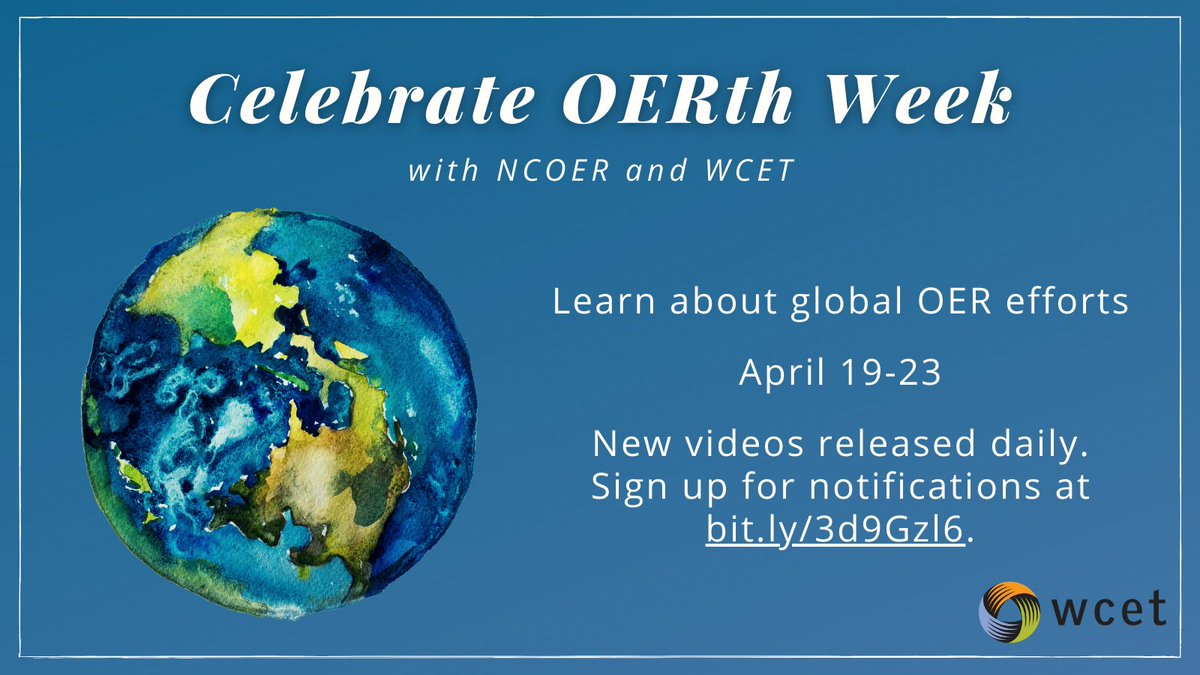 Join @wcet_info in celebrating #OERth week & hearing from different experts from across the Earth (OERth?)   First up is Paola Corti @paola5373 from @SPARC_EU   Learn more below and check back in everyday for another expert & another topic.   #OER #OpenEd #NewEngland #EarthWeek