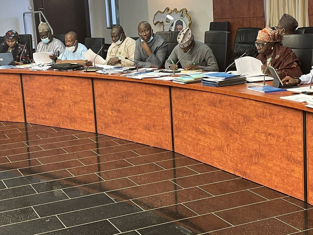 Back from the Abuja event, Malam Nasir @elrufai has joined the ongoing ministerial briefings at the Council Chambers of Sir Kashim Ibrahim House