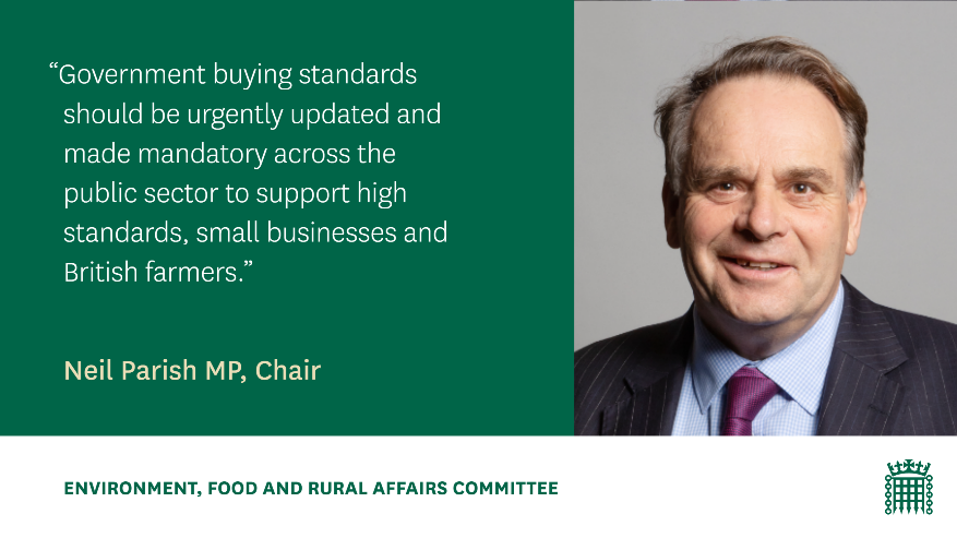 Great to see support for the SW pilot for a new approach to public sector food procurement in the @CommonsEFRA report issued today, which calls on the Government to update procurement standards and support small producers. Find out more here 👇