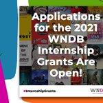 Image for the Tweet beginning: ✨Applications for WNDB's 2021 Internship