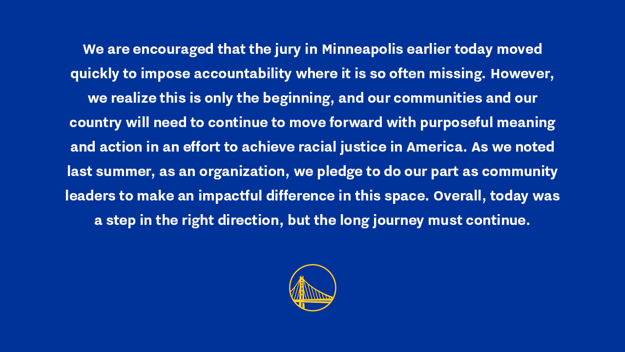 GSW statement on the verdict