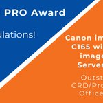 Image for the Tweet beginning: Well deserved @Canon and @CanonEMEA.