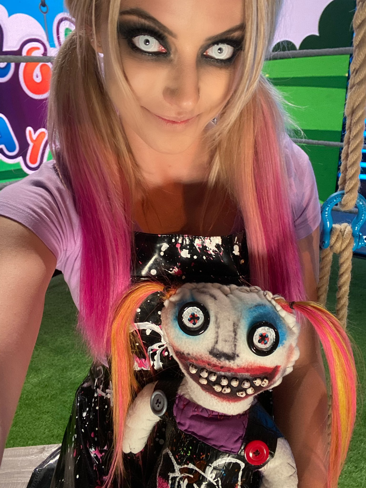 Alexa Bliss with her doll, Lilly.