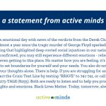 Image for the Tweet beginning: A statement from Active Minds