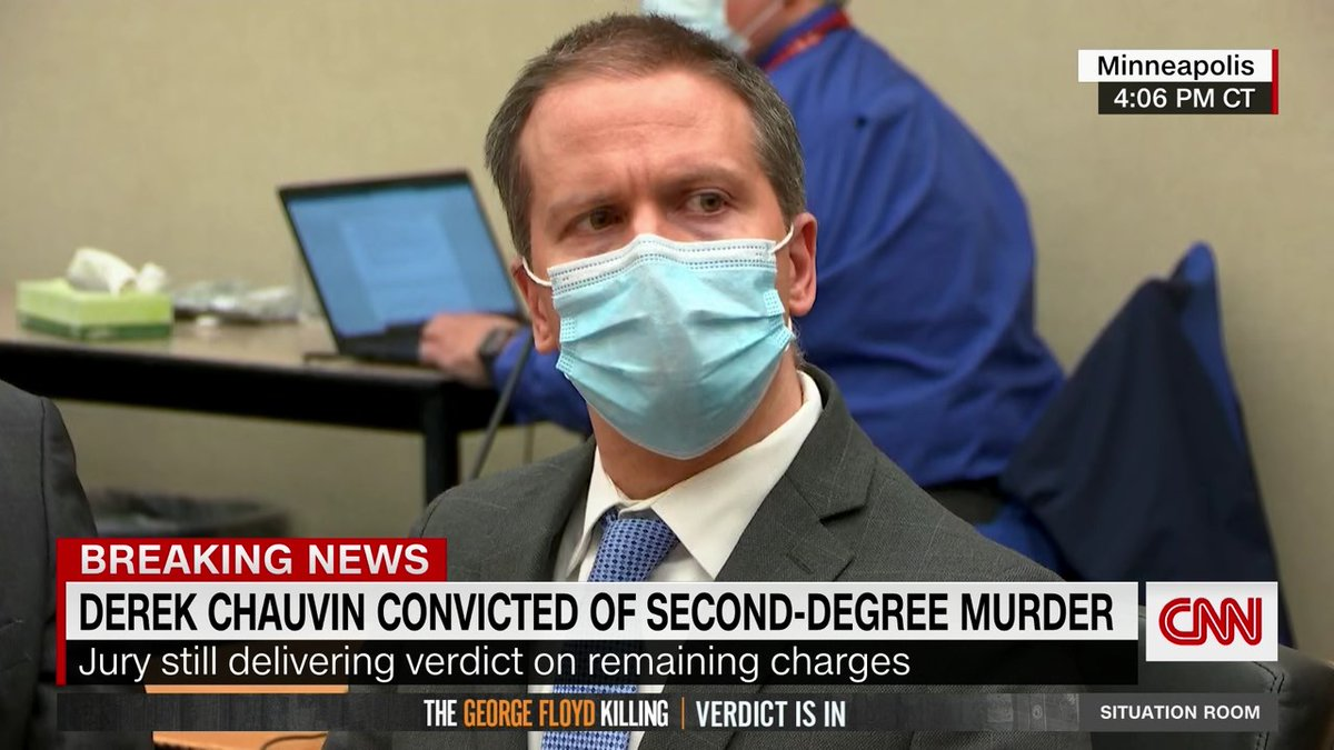 Former Minneapolis Police Officer Derek Chauvin has been found guilty of murder and manslaughter in the death of George Floyd https://t.co/XHLNgDsIHZ https://t.co/hyzJRDDtPk
