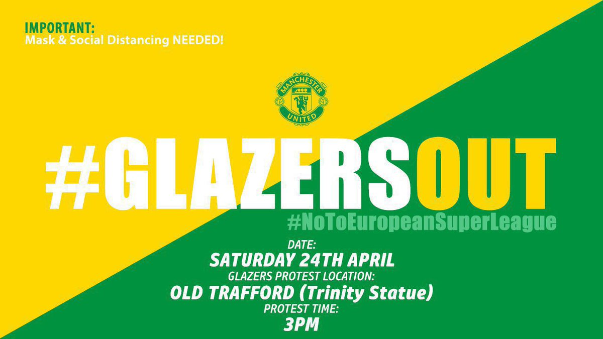 Bring a banner and a mask #GlazersOut https://t.co/h3eF4ee10U