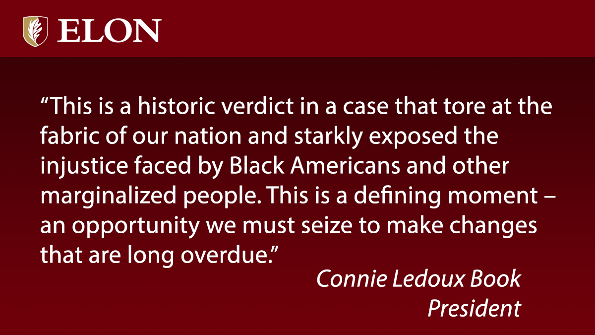 President @ElonConnieBook has this statement on moving forward after the #ChauvinTrial verdict: https://t.co/BH32PjB1eU