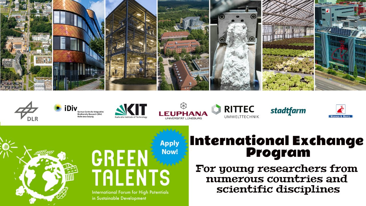Green Talents by International Exchange Program by German Ministry of Education and Research