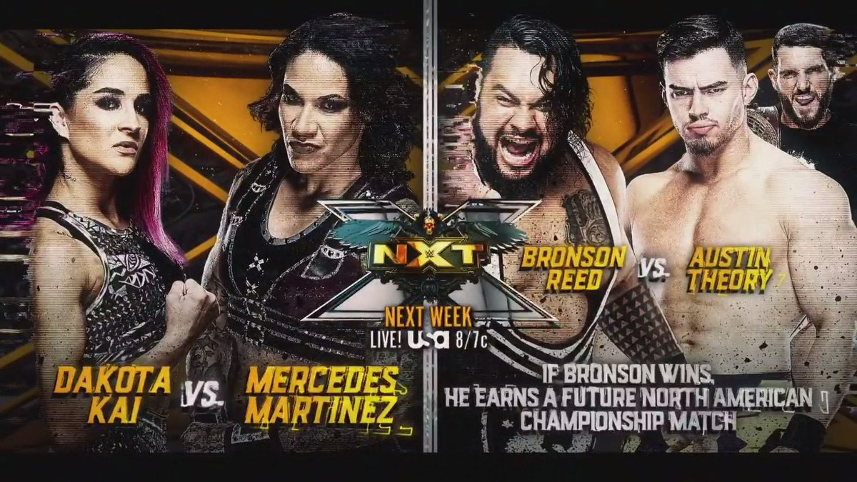 Three Big Matches Announced For Next Tuesday's NXT
