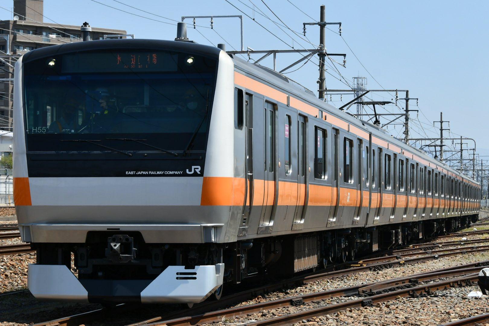 【長野発水道橋行き?】中央線グリーン車連結対応工事が実施 E233系トタH55編成で