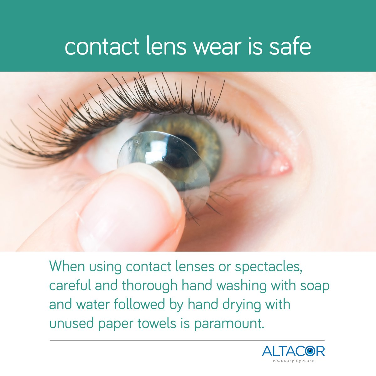 #washyourhands #altacor #eyecare #eyehealth #vision #stayclean #contactlens #contactlenses #dryeye