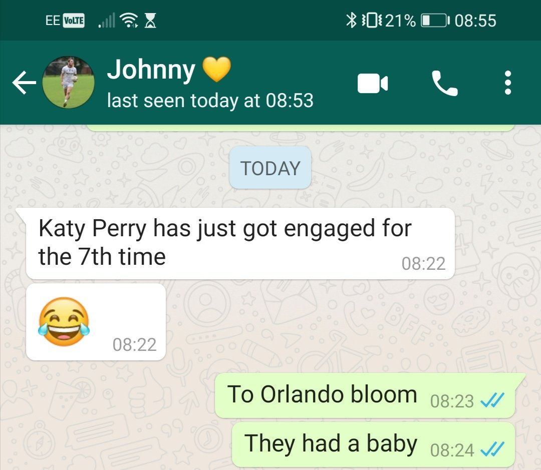 People think having a husband not into pop culture isn't that big of a deal until something like this happens... Thanks @jc__19 for the giggle this morning 😂 #KatyPerry #katieprice