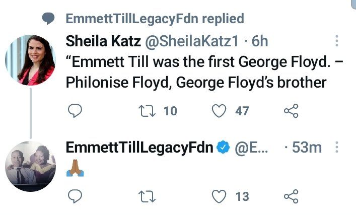 #EmmettTill (If Emmett Till was the first #GeorgeFloyd than let's get #CarolynBryant for his murder!) #whitesplainin #WeepingWhiteWomen #StayOnCode #StopAntiBlackness #NoAntiBlackRacism