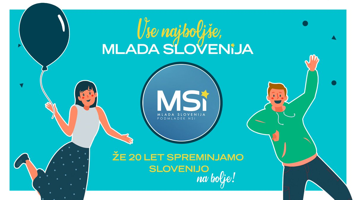 Spoštovana predsednica @kbb283, spoštovani prijatelji iz @MladaSlovenija. Dovolite mi, da vam v imenu @organizacijaSDM iskreno čestitam ob vaši 20. obletnici. Skupaj lahko naredimo še več in vesel sem, da smo naredili korak k trdnejšemu sodelovanju. Vse dobro! 🇸🇮🎉🤝 https://t.co/TrRwiWWqrd