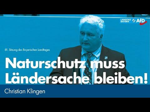 Christian Klingen: Naturschutz muss Ländersache bleiben!   AfDay https://t.co/Y1PuCijqS0 https://t.co/rrunca2wYl