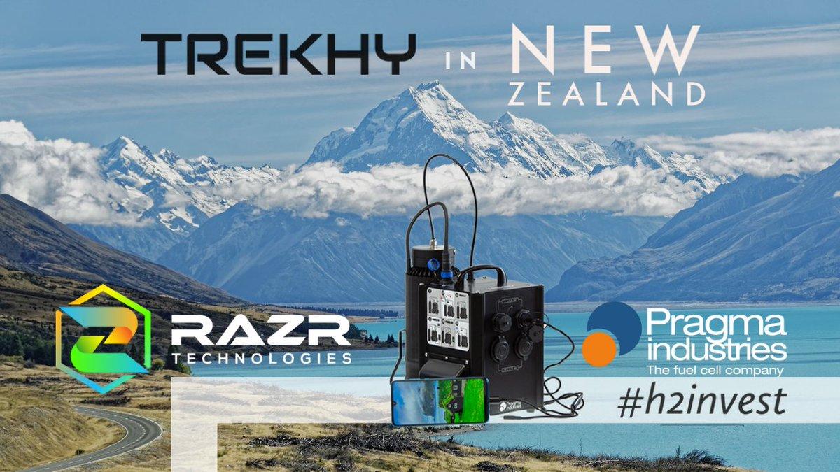 Pragma Industries vient de signer un contrat de distribution avec la Société RAZR qui vise le marché des refuges dans les montagnes de #NouvelleZélande pour le TREKHY où l'utilisation de notre groupe électrogène autonome prend tout son sens. #h2invest #h2now #hydrogen #trekhy