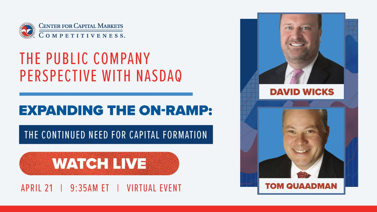 test Twitter Media - We are pleased to have David Wicks, VP @Nasdaq join @USChamberCCMC EVP @QuaadmanT at our event for a discussion from the public company perspective. Watch now! https://t.co/MYlWn90HVf https://t.co/FaQwynq7nf