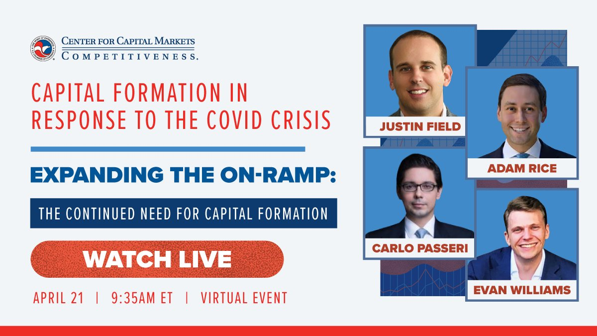 test Twitter Media - Watch Now! As @USChamberCCMC is joined by a distinguished panel for a discussion on capital formation in response to the Covid Crisis. https://t.co/MYlWn90HVf https://t.co/ufGeBcIPn9