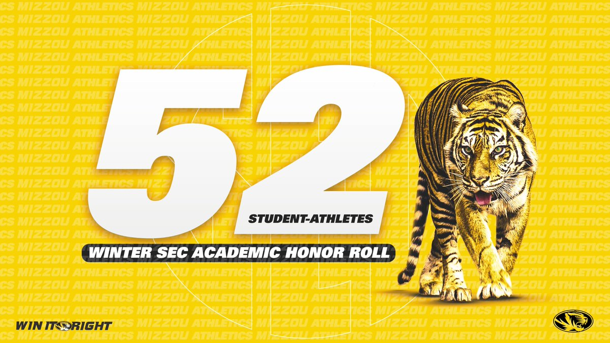 Working hard in the classroom! 📚  All 9️⃣ #Mizzou Tigers eligible for the Winter @SEC Academic Honor Roll made the cut!  #MIZ 🐯