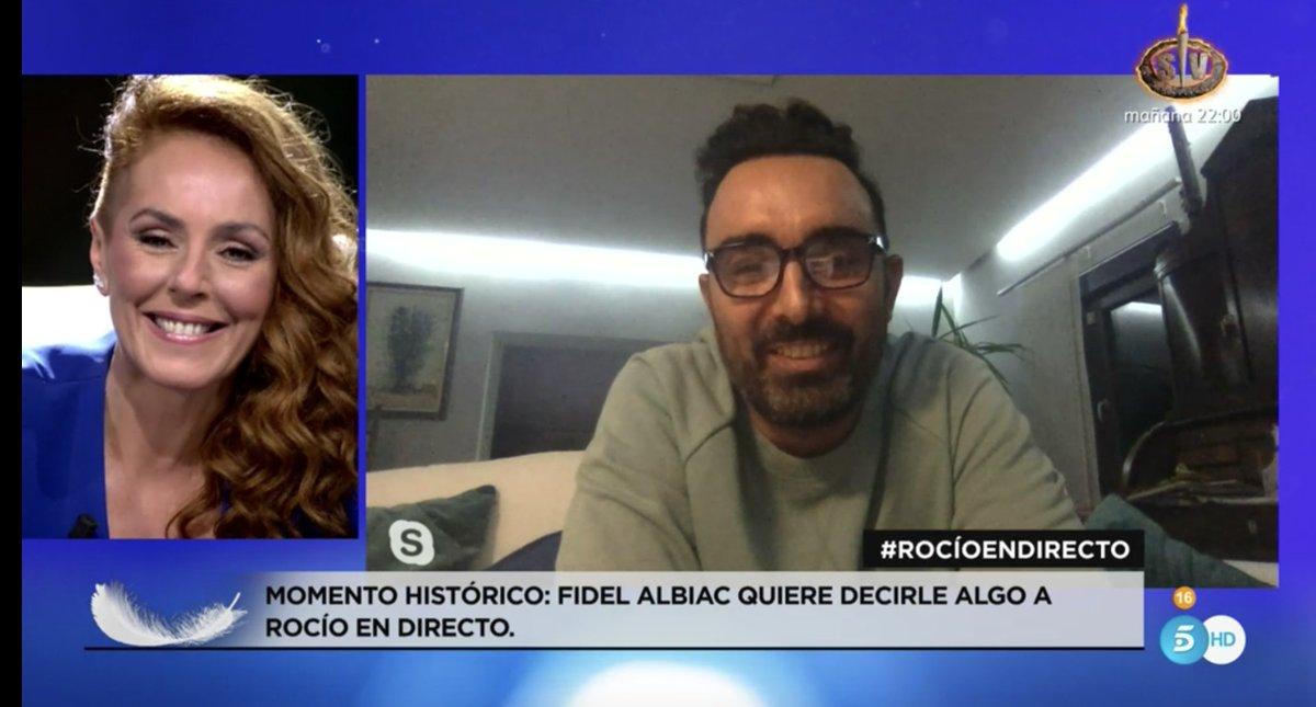 RT @jotakx: Rocio y Fidel compartiendo pantalla en televisión. Historia de España #RocioEnDirecto https://t.co/95CechHLHd