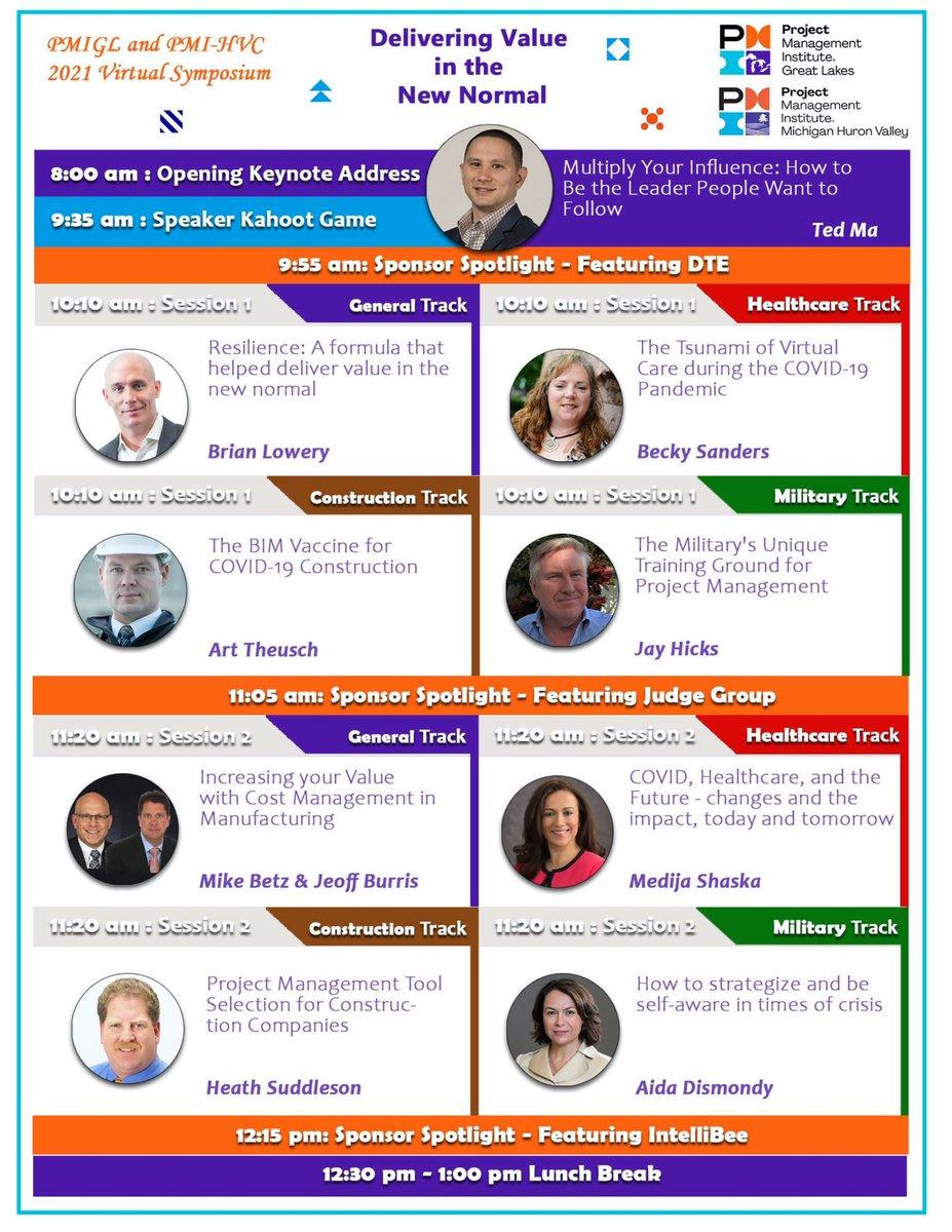 Excited to speak at this conference on Friday! #PMIGL #springsymposium #keynotespeaker #virtualconference #leadership